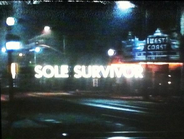 Sole Survivor VHS