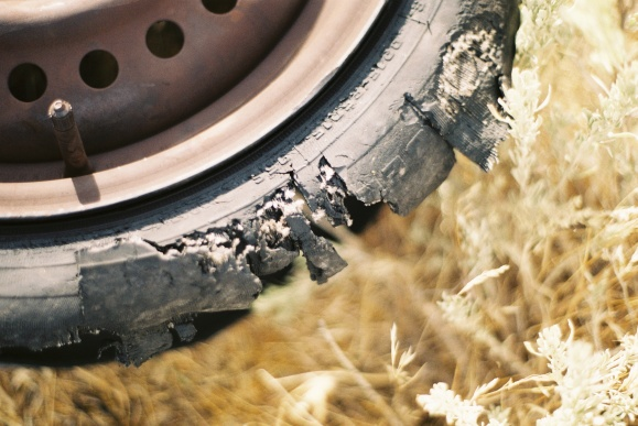 4.Shredded Tire